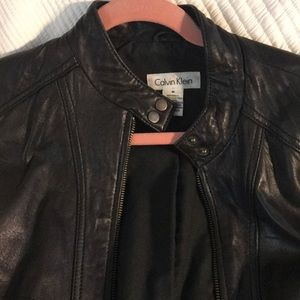 Calvin Klein Medium Leather jacket black